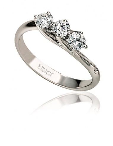 anello trilogy VALENTINE kt.0.40 diamanti e oro bianco