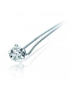 Collana solitario ELLE BIBIGI' kt. 0.10 diamante e oro bianco