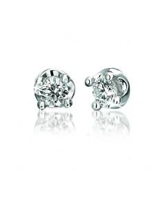 Orecchini solitario ELLE BIBIGI' kt. 0.16 diamanti e oro bianco