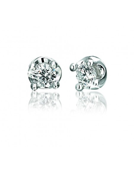 orecchini solitario ELLE kt.0.30 diamanti e oro bianco