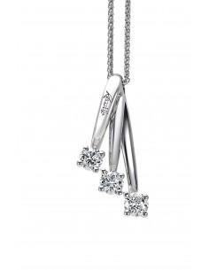 collana trilogy ETERNITY RECARLO kt. 0,25 diamanti e oro bianco