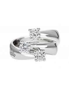 anello trilogy ETERNITY RECARLO kt. 0,10 diamanti e oro bianco