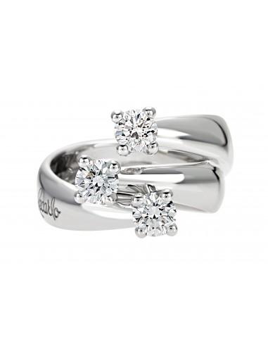 anello trilogy ETERNITY RECARLO kt.0.30 diamanti e oro bianco