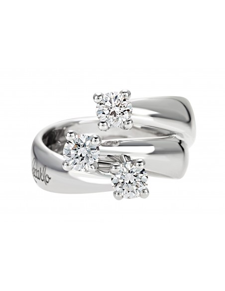 anello trilogy ETERNITY RECARLO kt.0.40 diamanti e oro bianco