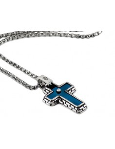 Collana Uomo ARAGONESI DIAMOND in acciaio 316L e diamante