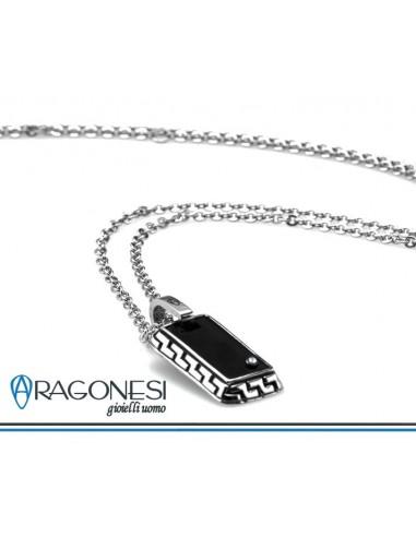 selezione migliore 9efb5 58916 Collana Uomo ARAGONESI DIAMOND in acciaio 316L e diamante