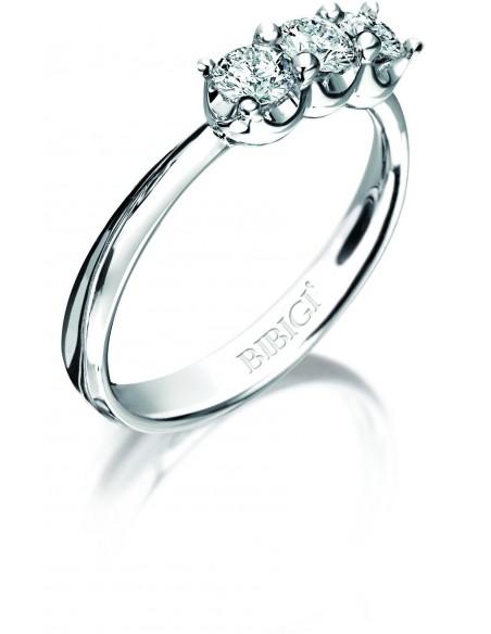 anello trilogy ELLE kt.0.24 diamanti e oro bianco