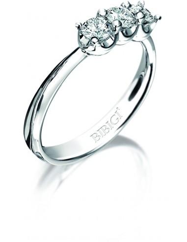 anello trilogy ELLE kt.0.36 diamanti e oro bianco
