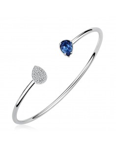 Bracciale Brosway AFFINITY con Swarovski denim blue e pavè di cristalli bianchi 55mm