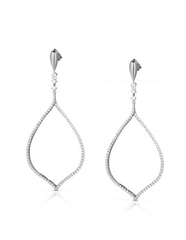 orecchini argento foglia