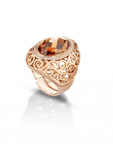 anello argento traforato ambra