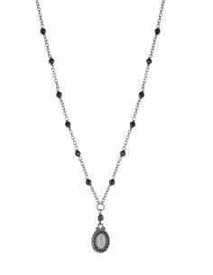 collana argento sacro icone zirconi neri