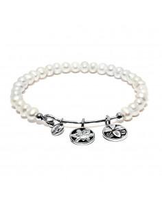 bracciale CHRYSALIS ANGELO CUSTODE fioritura con perle