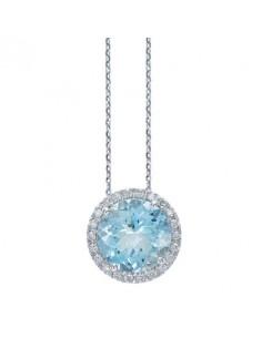 anello Blu Water acquamarina e brillanti BIBIGI' kt. Aq. kt