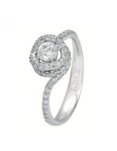 anello solitario con pavè NODO D'AMORE di BIBIGI' kt.0.78