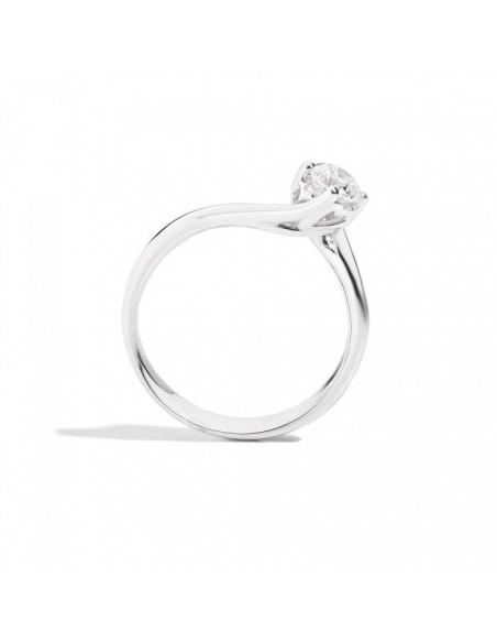 anello solitario ANNIVERSARY RECARLO kt. 0.18 diamante e oro bianco