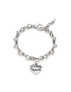 Bracciale in argento i Love mamma, Raspini
