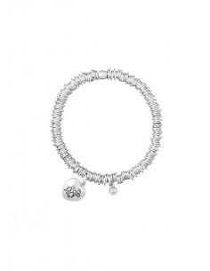 Aquaforte, bracciale lucido, silver