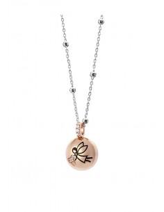 Aquaforte, collana porta dentino cm 42+2 ext lucido, rose gold