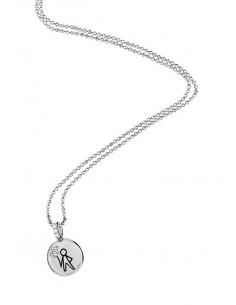 Aquaforte, collana porta dentino lucido - bimbo, silver