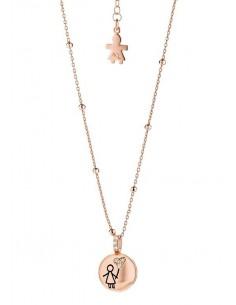 Aquaforte, collana porta dentino spazzolato - bimba, rose gold