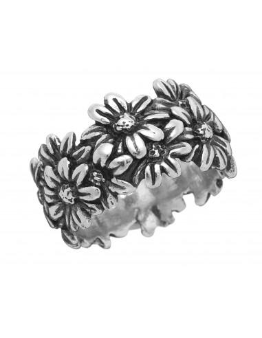 anello argento FASCIA MARGHERITE Raspini gioielli