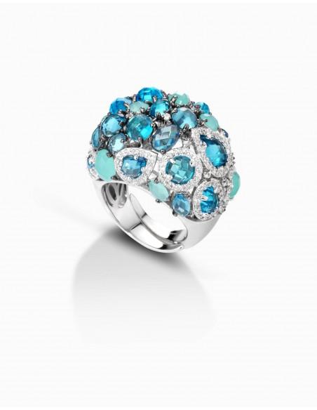 anello argento fantasia ametista cuori
