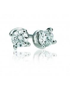 Orecchini solitario VALENTINE BIBIGI' kt. 0.16 diamanti e oro bianco