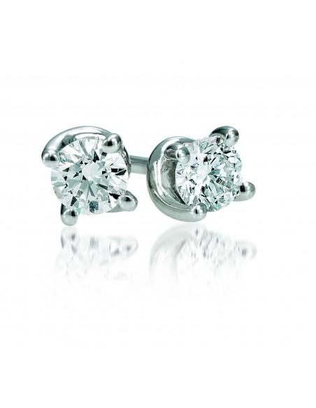 orecchini solitario VALENTINE diamanti e oro bianco