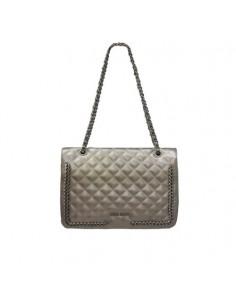 Mia Bag trapuntata chain platino
