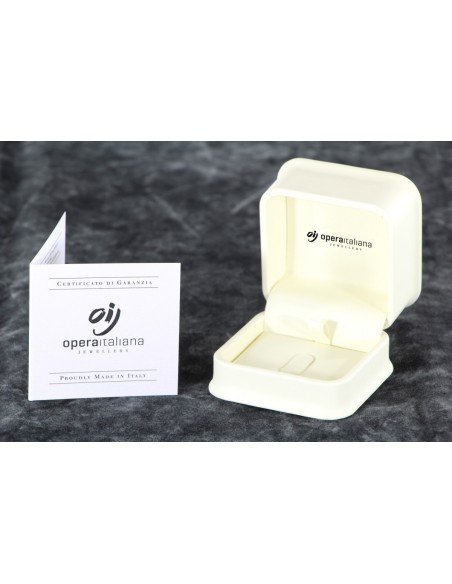 anello solitario PADOVA Luxury diamante kt. 0,07 Opera Italiana Jewellery