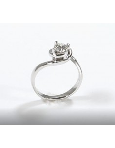 anello solitario CALDO ABBRACCIO kt. 0.40