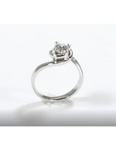 anello solitario CALDO ABBRACCIO kt. 0.40 OPERA ITALIANA JEWELLERY