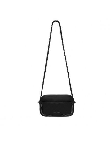Mia Bag leather tracolla nera